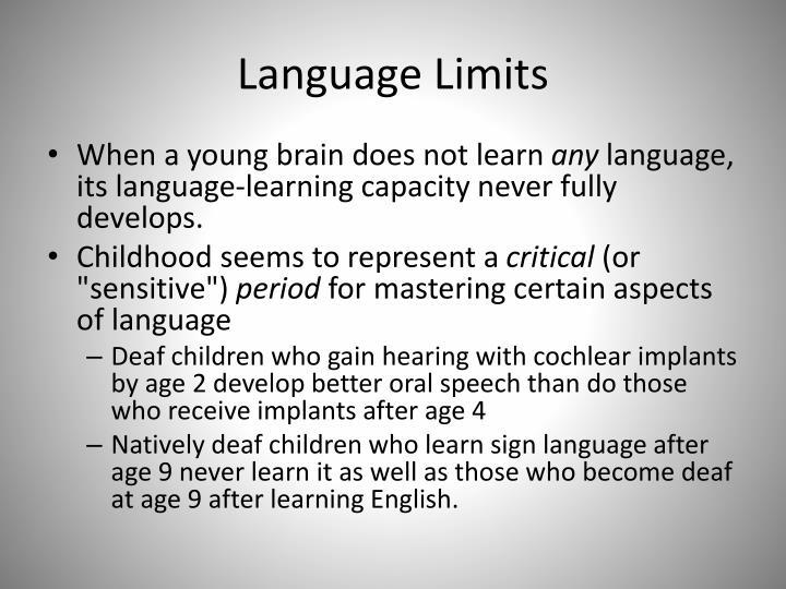 Language Limits