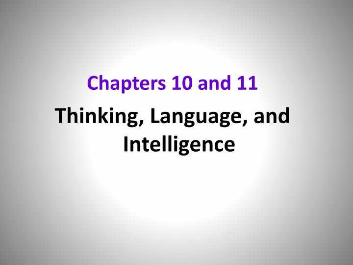 Chapters 10 and 11