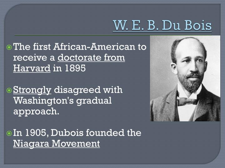 An Introduction To The Lives Of Booker T Washington And W E B Dubois