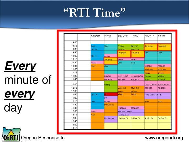 """""""RTI Time"""""""