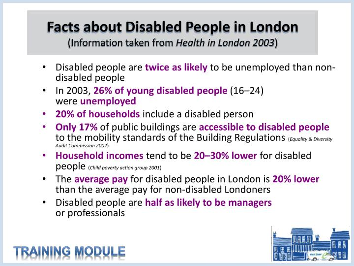 Facts about Disabled People in London