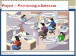 project maintaining a database
