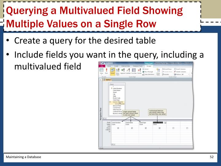 Querying a Multivalued Field Showing Multiple Values on a Single Row