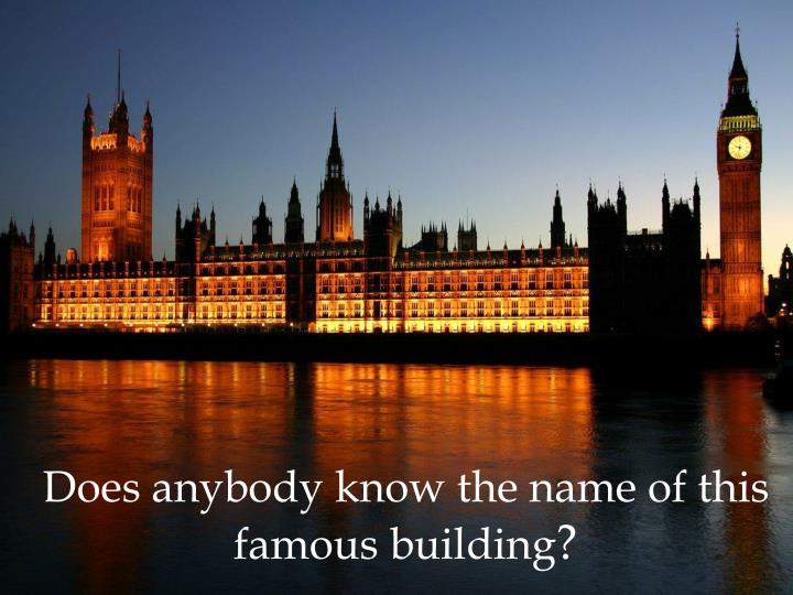 Does anybody know the name of this famous building