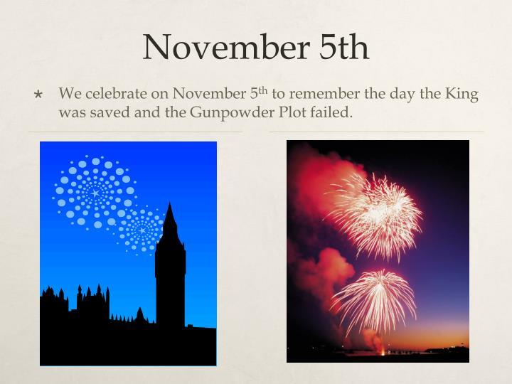 November 5th
