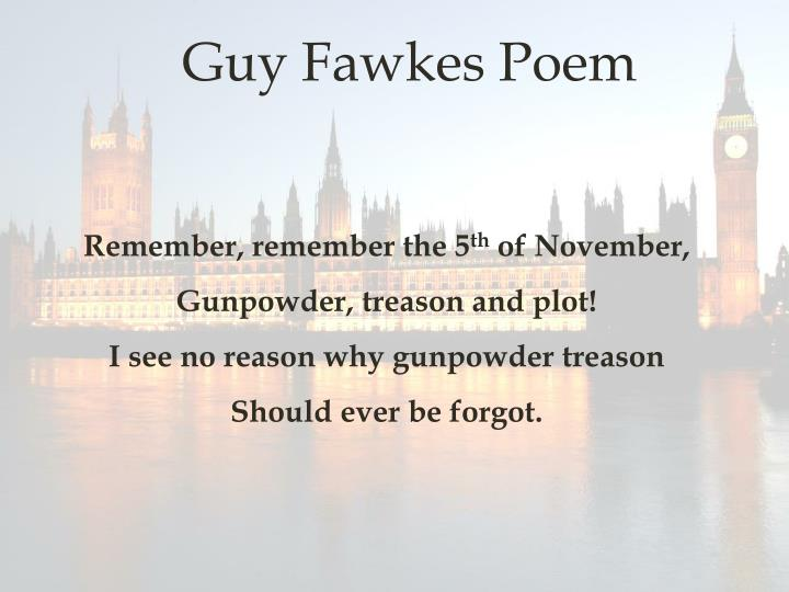 Guy Fawkes Poem