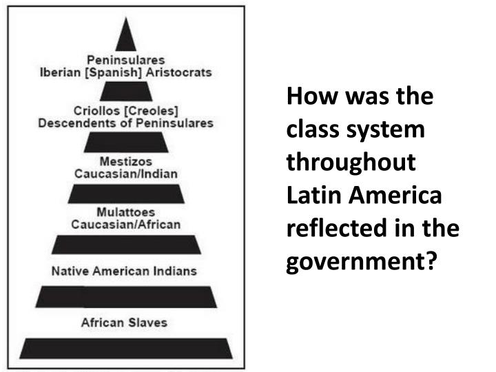 How was the class system throughout Latin America reflected in the government