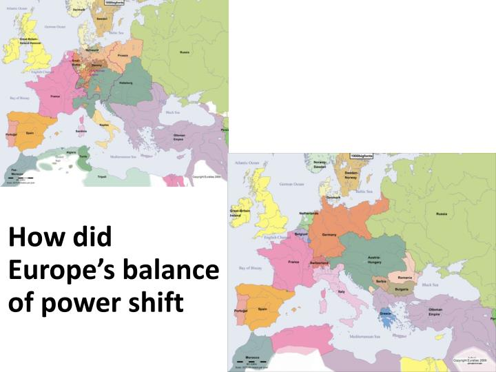How did Europe's balance of power shift