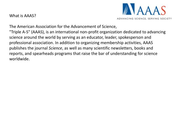 What is AAAS?