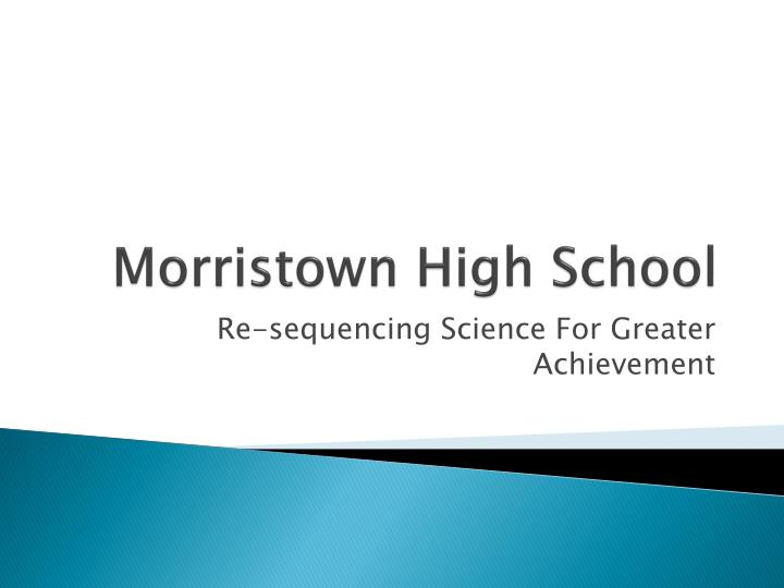 morristown high school