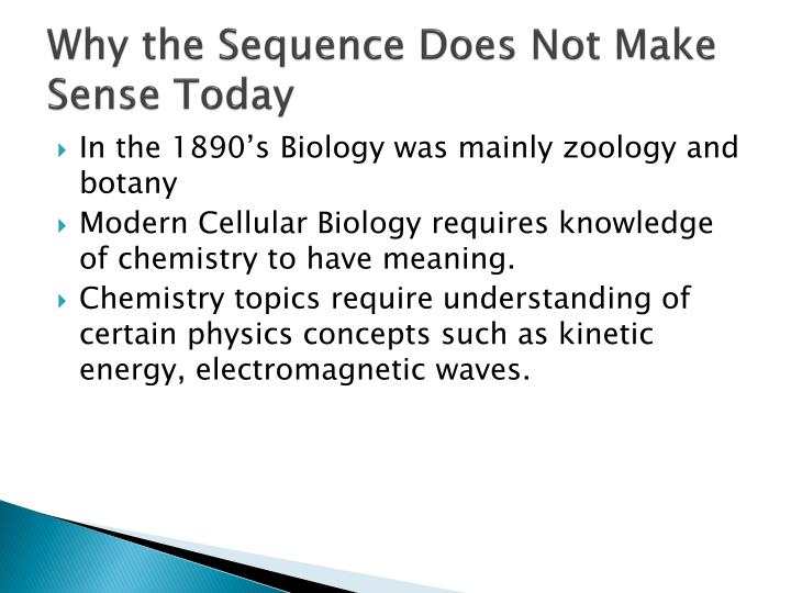 Why the Sequence Does Not Make Sense Today