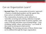 can an organization learn1