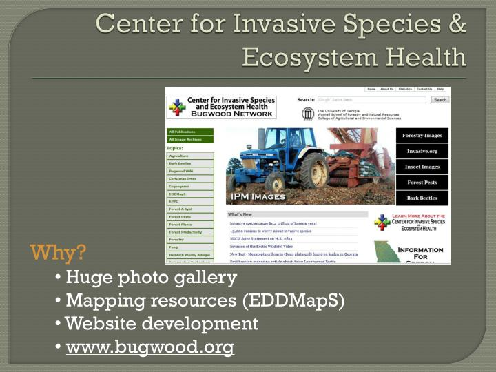 Center for Invasive Species & Ecosystem Health
