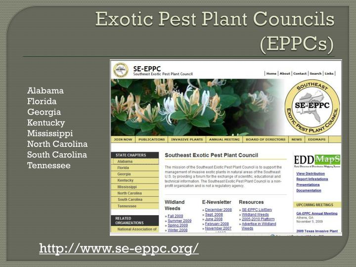 Exotic Pest Plant Councils (EPPCs)