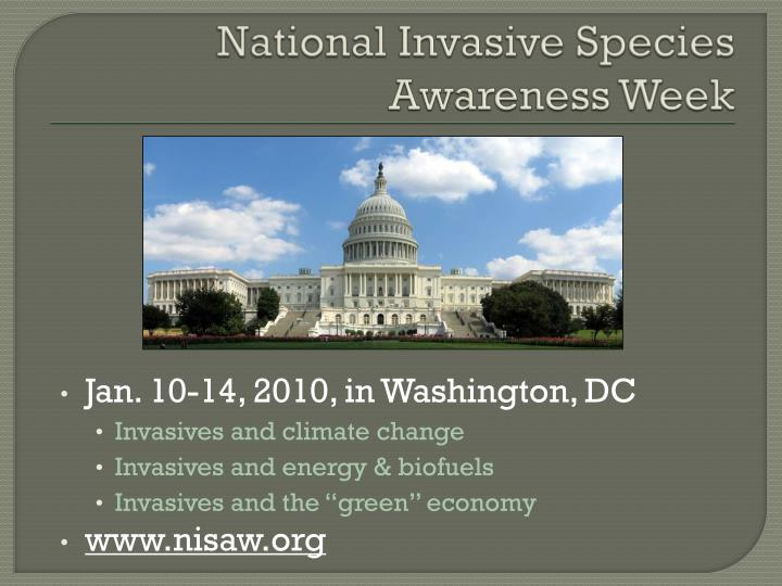 National Invasive Species Awareness Week