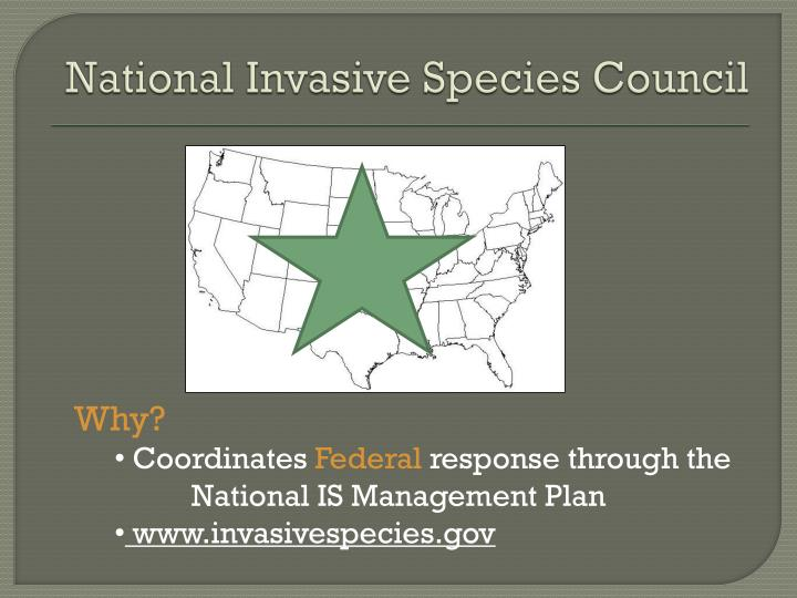 National Invasive Species Council