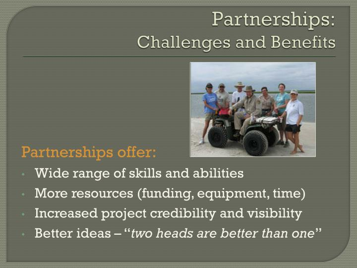Partnerships: