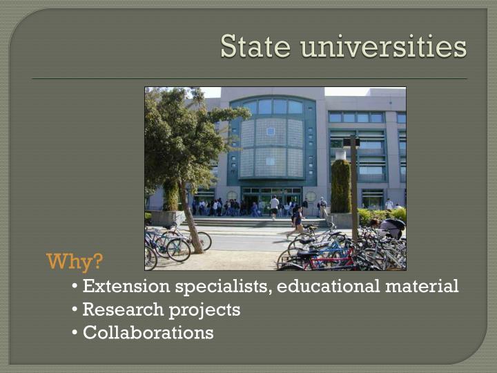 State universities