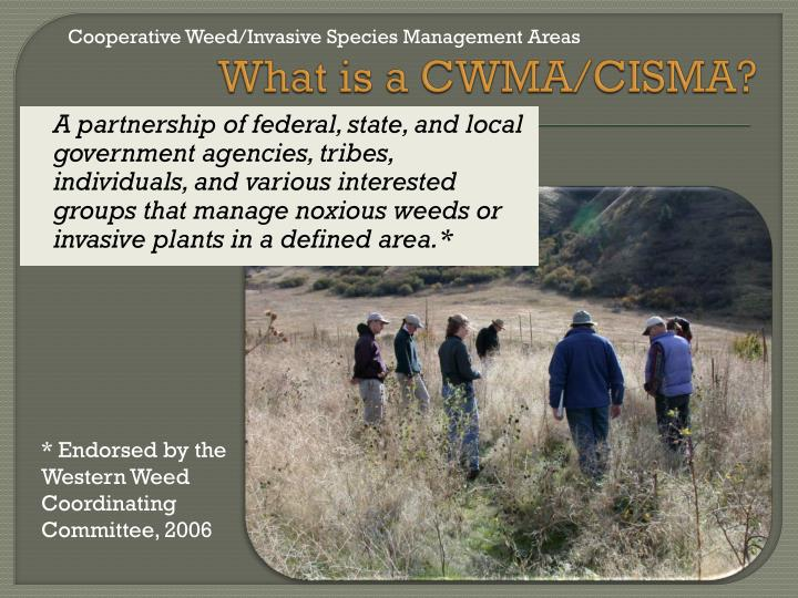 Cooperative Weed/Invasive Species Management Areas