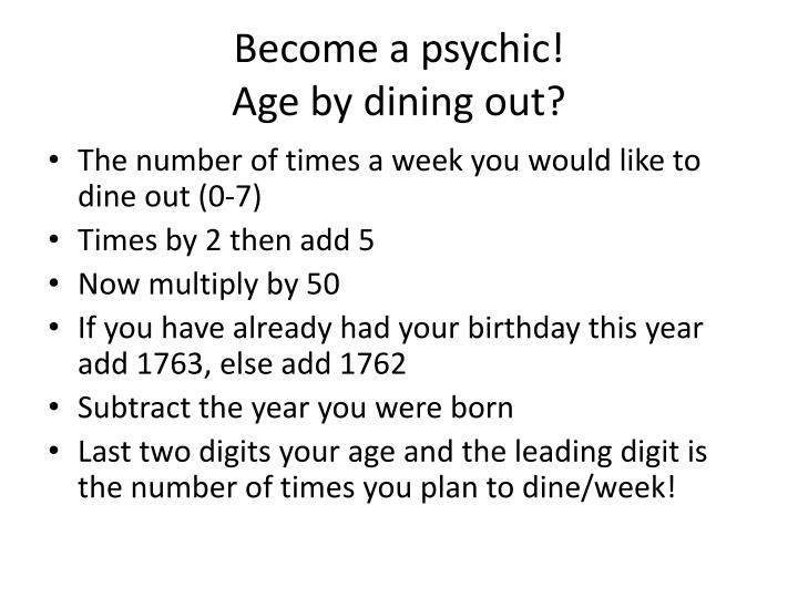 Become a psychic!