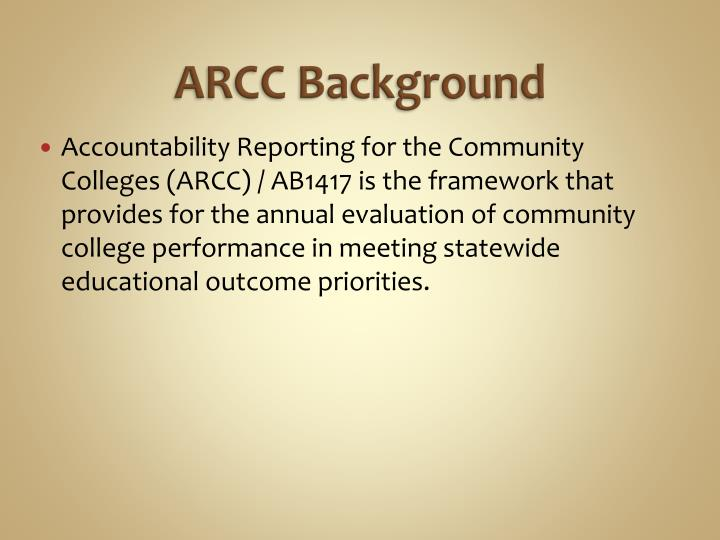 ARCC Background