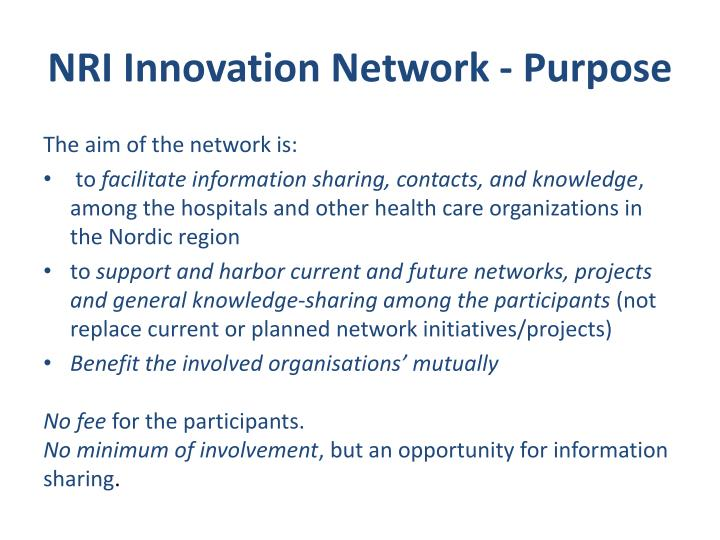 NRI Innovation Network -