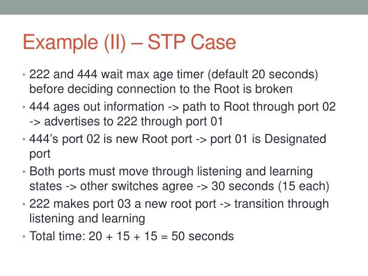 Example (II) – STP Case