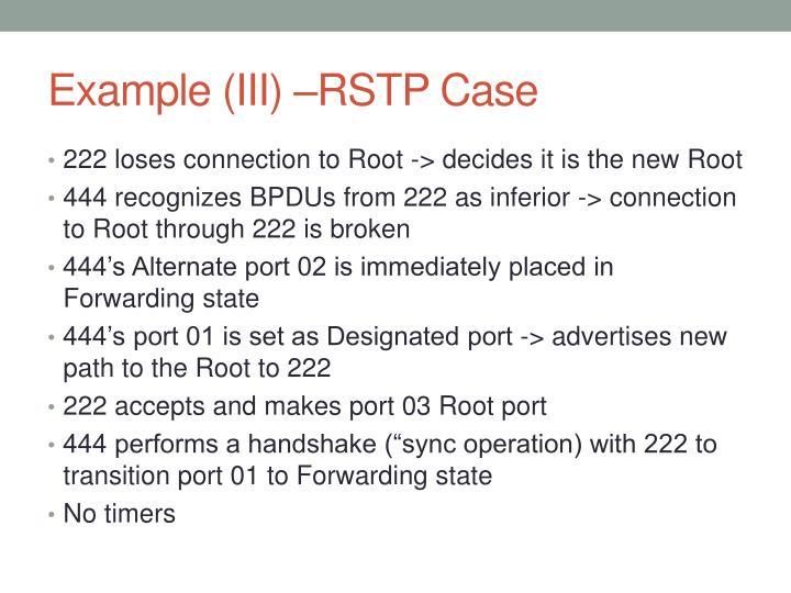 Example (III) –RSTP Case