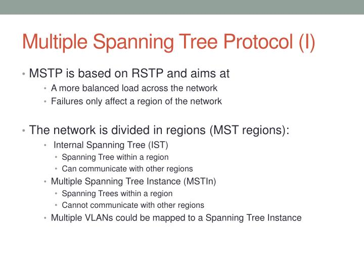 Multiple Spanning Tree Protocol (I)
