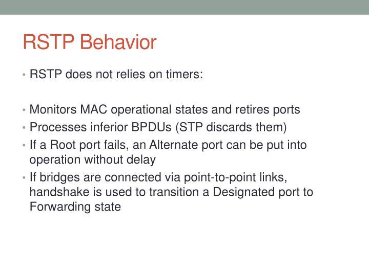 RSTP Behavior