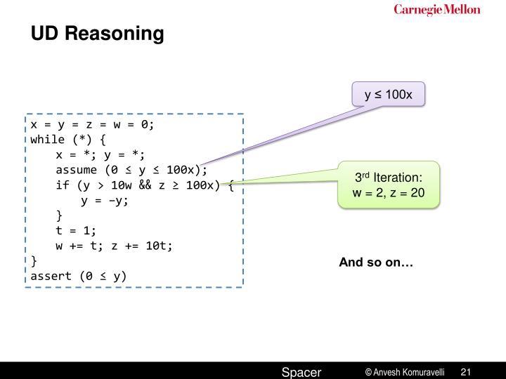 UD Reasoning