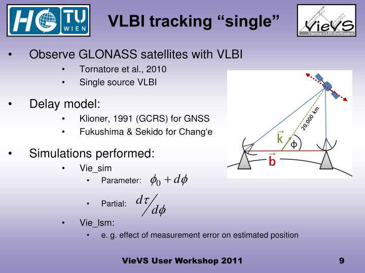 "VLBI tracking ""single"""