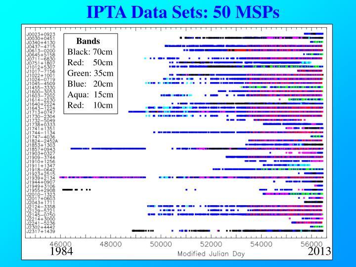 IPTA Data Sets: 50 MSPs