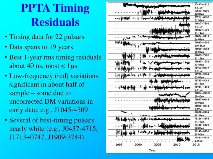 PPTA Timing Residuals