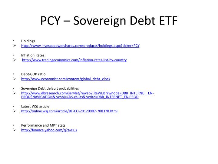 Pcy sovereign debt etf