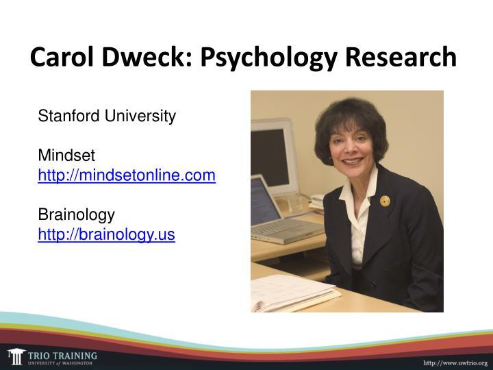 Carol Dweck: Psychology Research