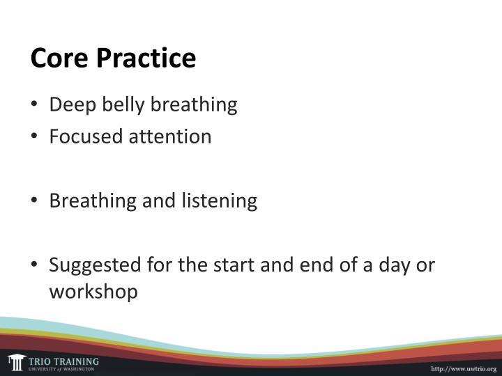 Core Practice