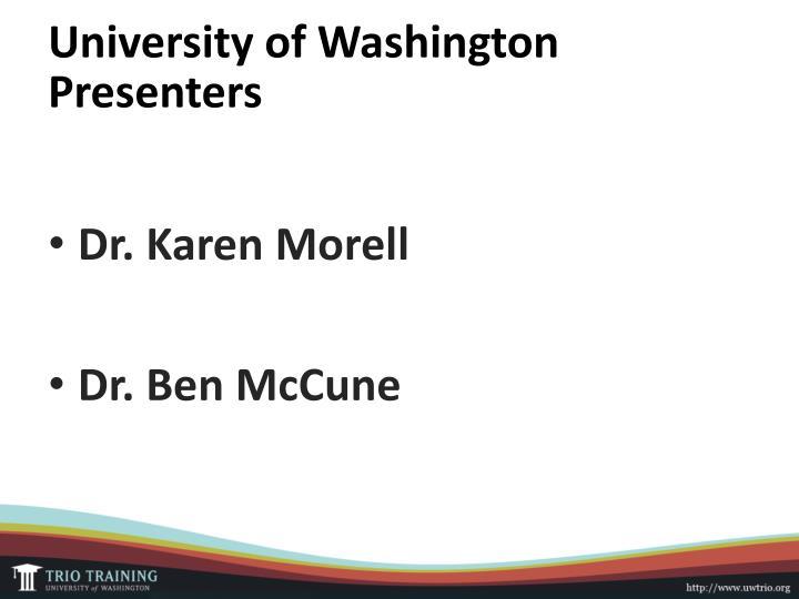 University of Washington Presenters