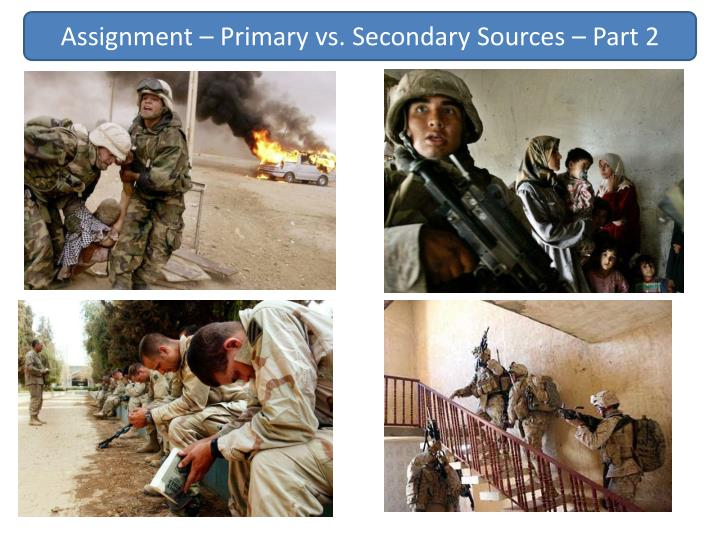 Assignment – Primary vs. Secondary Sources – Part 2