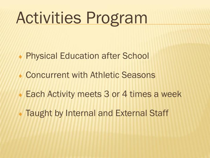 Physical Education after School