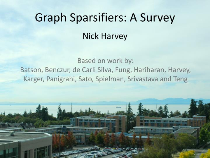 Graph sparsifiers a survey