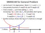 mmwum for general problem