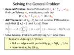 solving the general problem