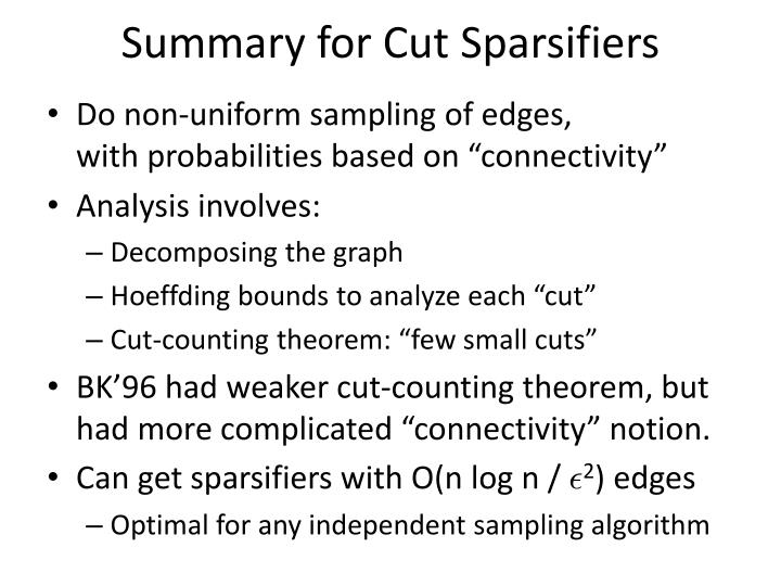 Summary for Cut