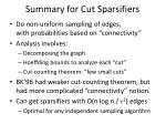 summary for cut sparsifiers