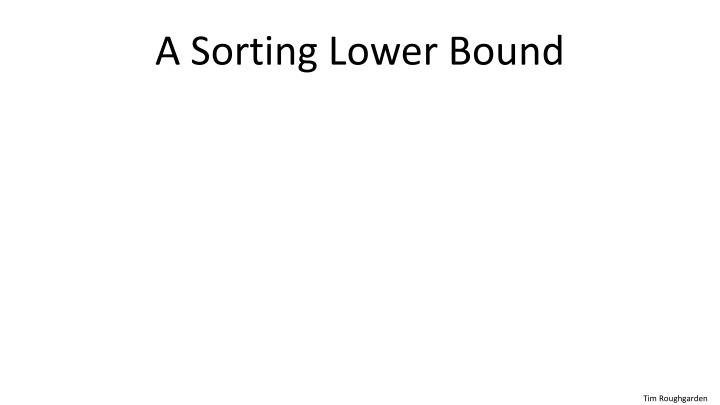 A sorting lower bound