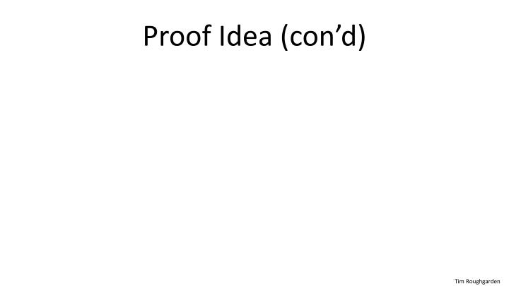 Proof Idea (