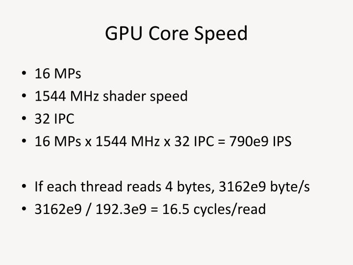 GPU Core Speed