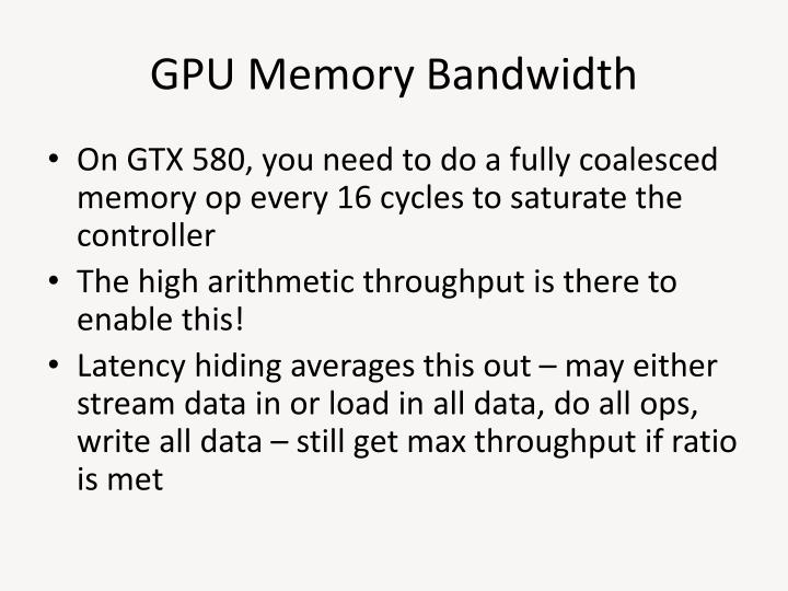 GPU Memory Bandwidth