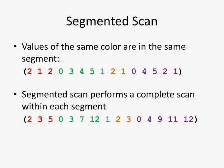 Segmented Scan